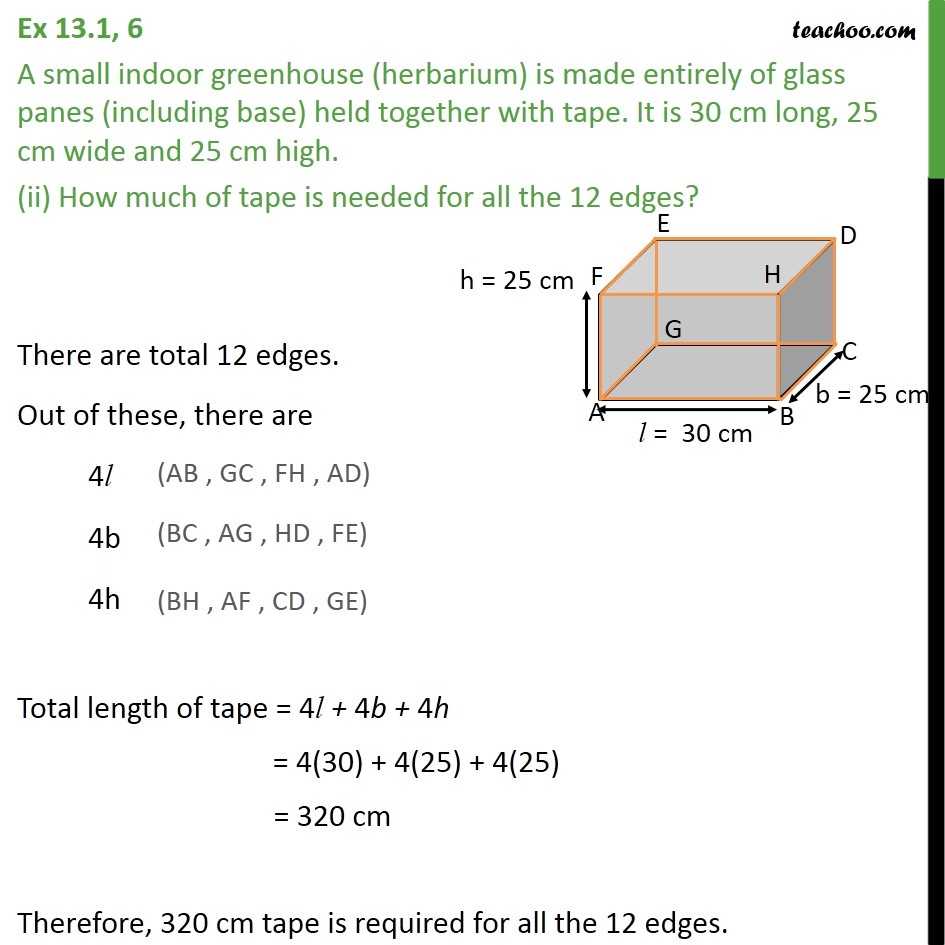 Ex 13.1, 6 - Chapter 13 Class 9 Surface Areas and Volumes - Part 2