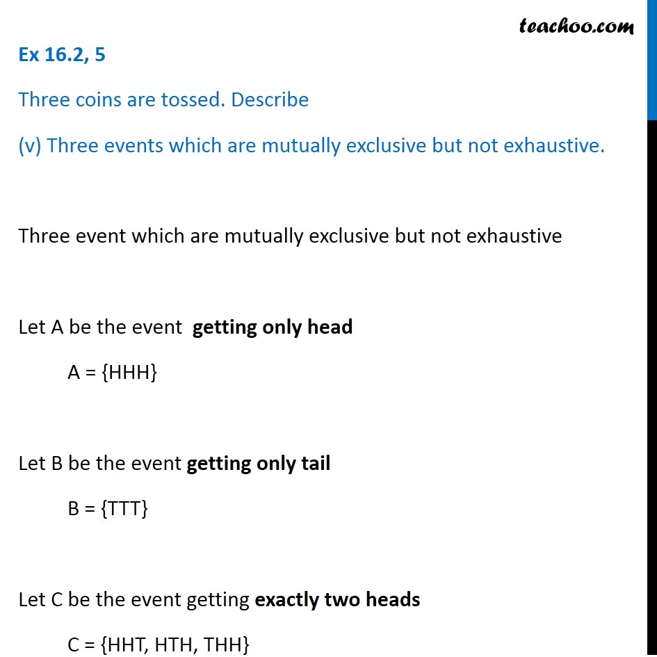 Ex 16.2, 5 - Chapter 16 Class 11 Probability - Part 10