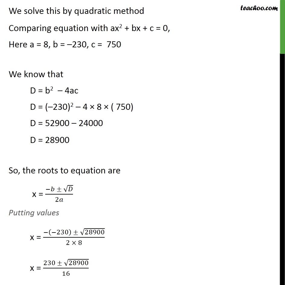 Ex 4.3, 9 - Chapter 4 Class 10 Quadratic Equations - Part 4