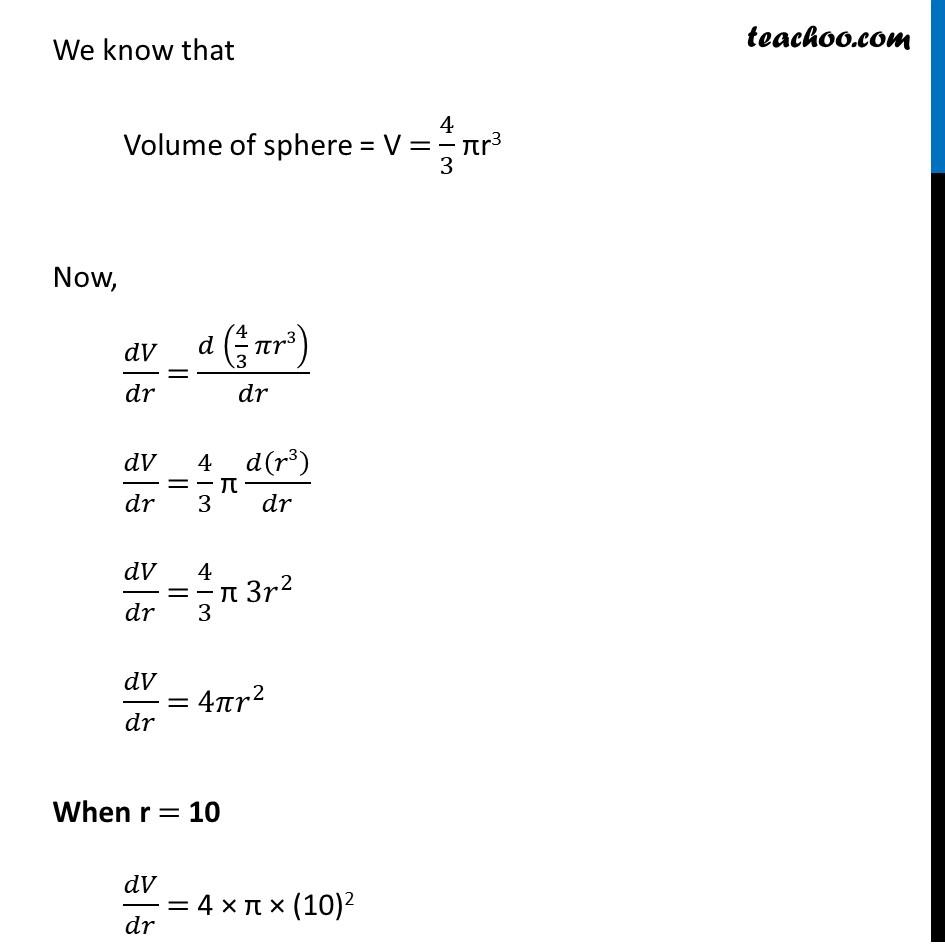 Ex 6.1,9 - Chapter 6 Class 12 Application of Derivatives - Part 2