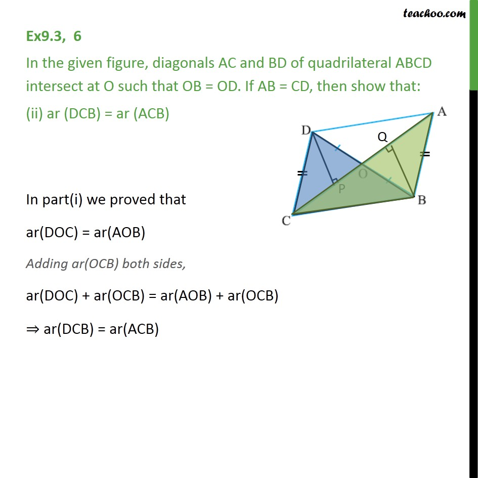 Ex 9.3, 6 - Chapter 9 Class 9 Areas of Parallelograms and Triangles - Part 3