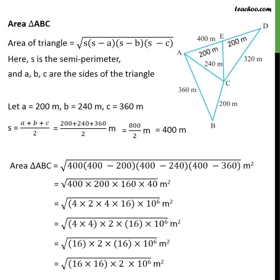 Example 4 - Chapter 12 Class 9 Herons Formula - Part 2