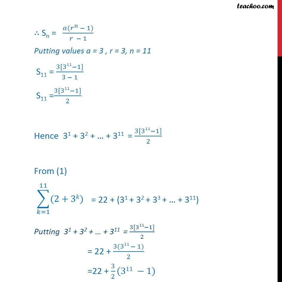 Ex 9.3, 11 - Chapter 9 Class 11 Sequences and Series - Part 4
