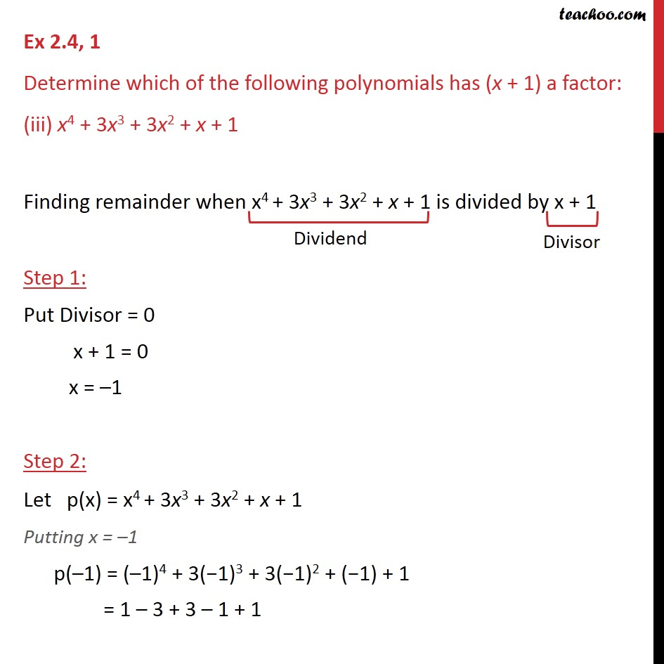 Ex 2.4,1 - Chapter 2 Class 9 Polynomials - Part 5
