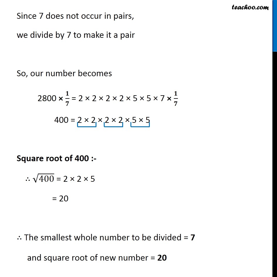 Ex 6.3, 6 - Chapter 6 Class 8 Squares and Square Roots - Part 10