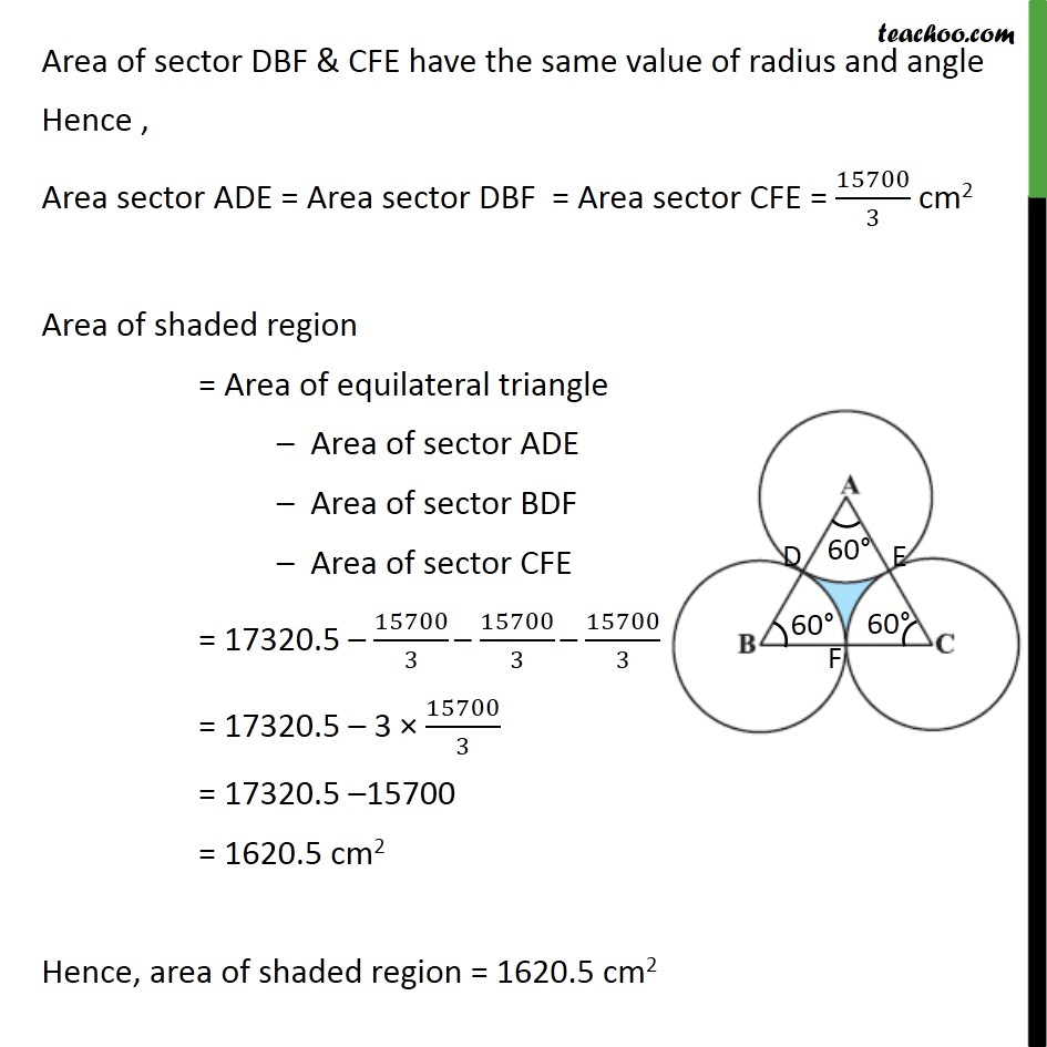 Ex 12 3, 10 - Area of equilateral triangle ABC is 17320 5 cm2
