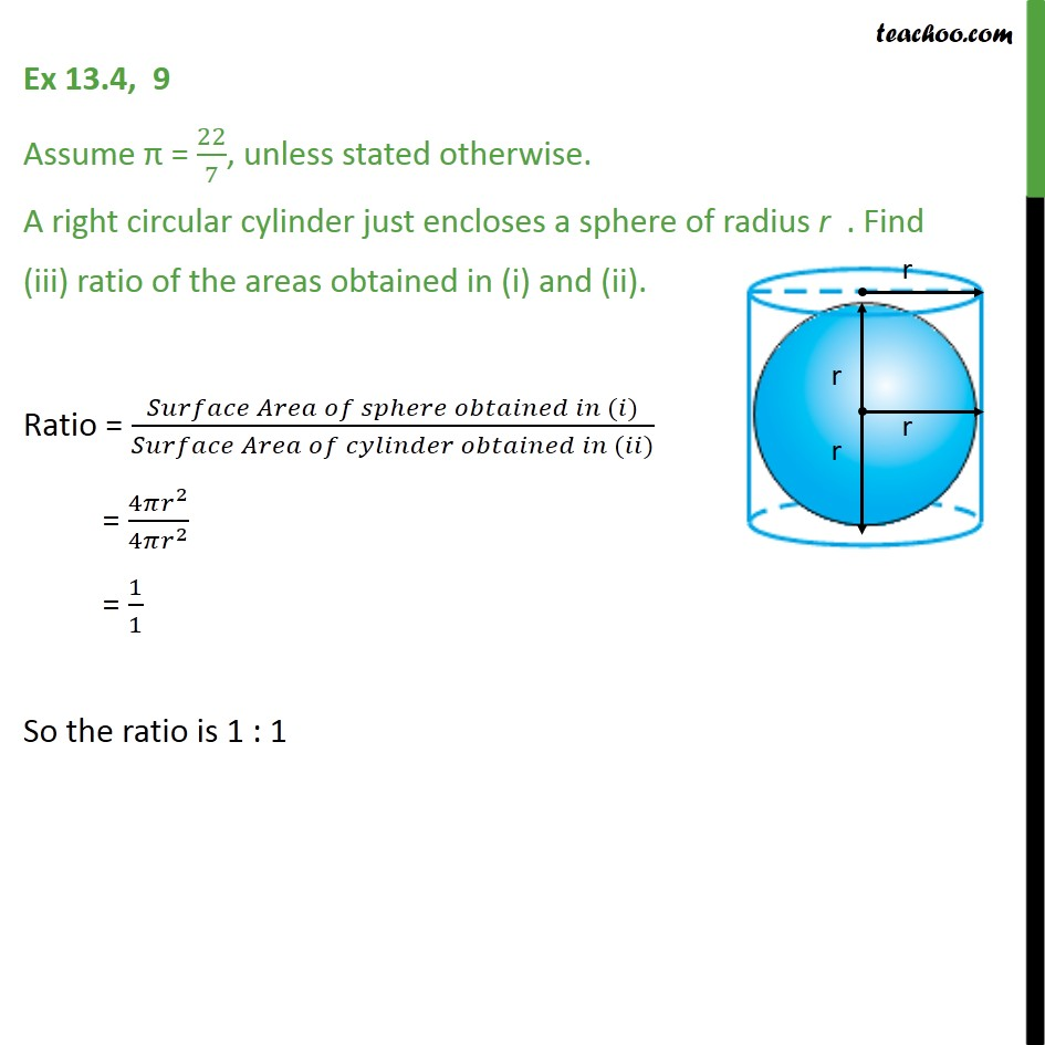 Ex 13.4, 9 - Chapter 13 Class 9 Surface Areas and Volumes - Part 3