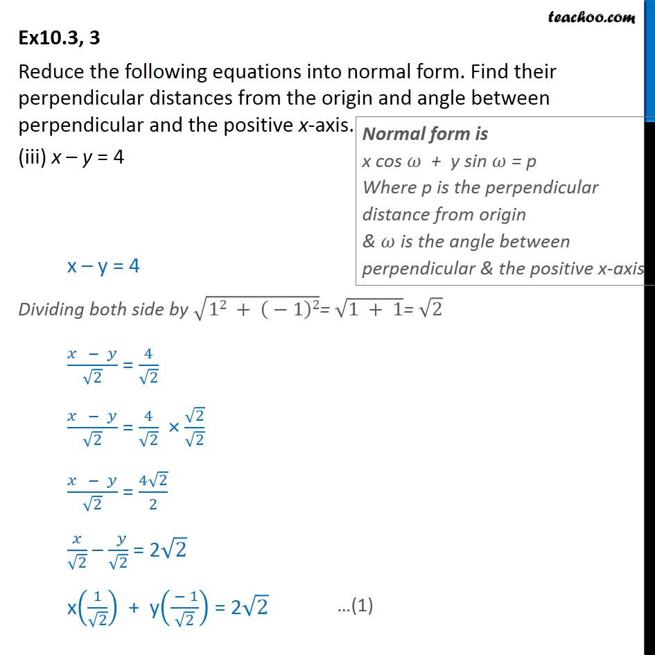Ex 10.3, 3 - Chapter 10 Class 11 Straight Lines - Part 6