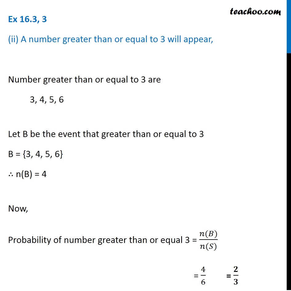 Ex 16.3, 3 - Chapter 16 Class 11 Probability - Part 3