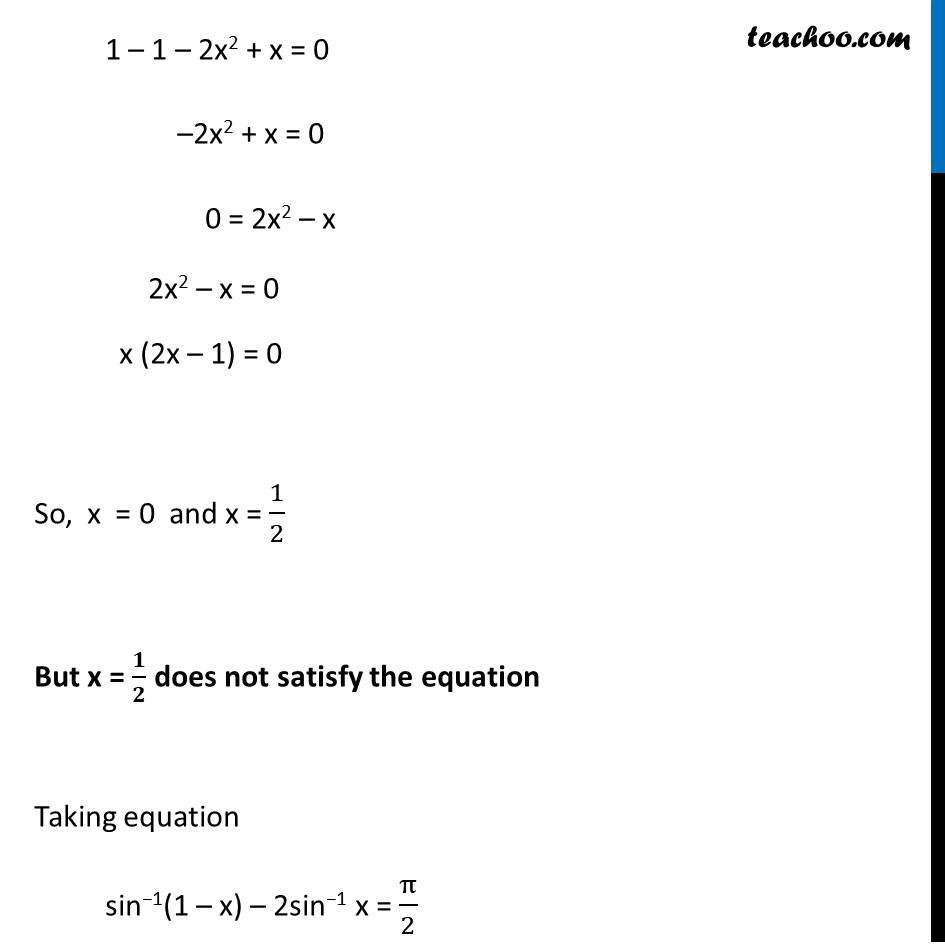 Misc 16 - Chapter 2 Class 12 Inverse Trigonometric Functions - Part 3