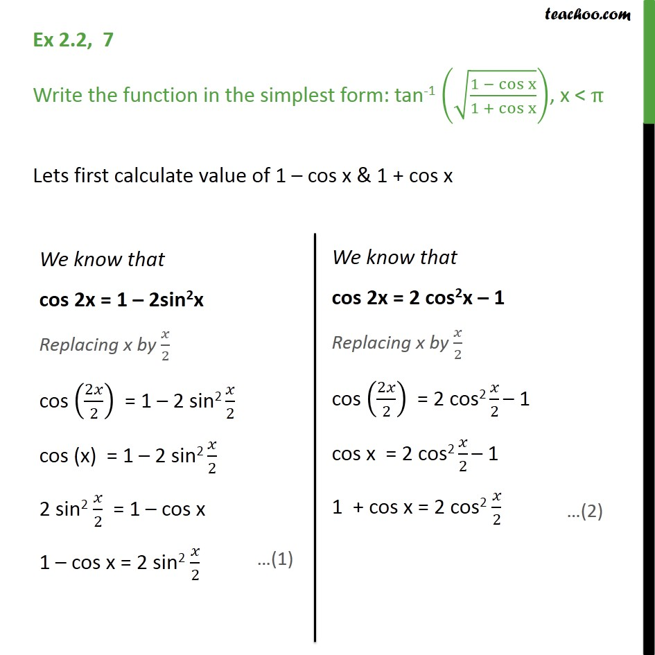 Ex 2.2, 7 - Chapter 2 Class 12 Inverse Trignometry - tan-1 - Ex 2.2