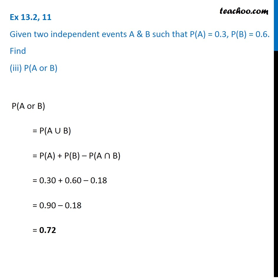 Ex 13.2, 11 - Chapter 13 Class 12 Probability - Part 3