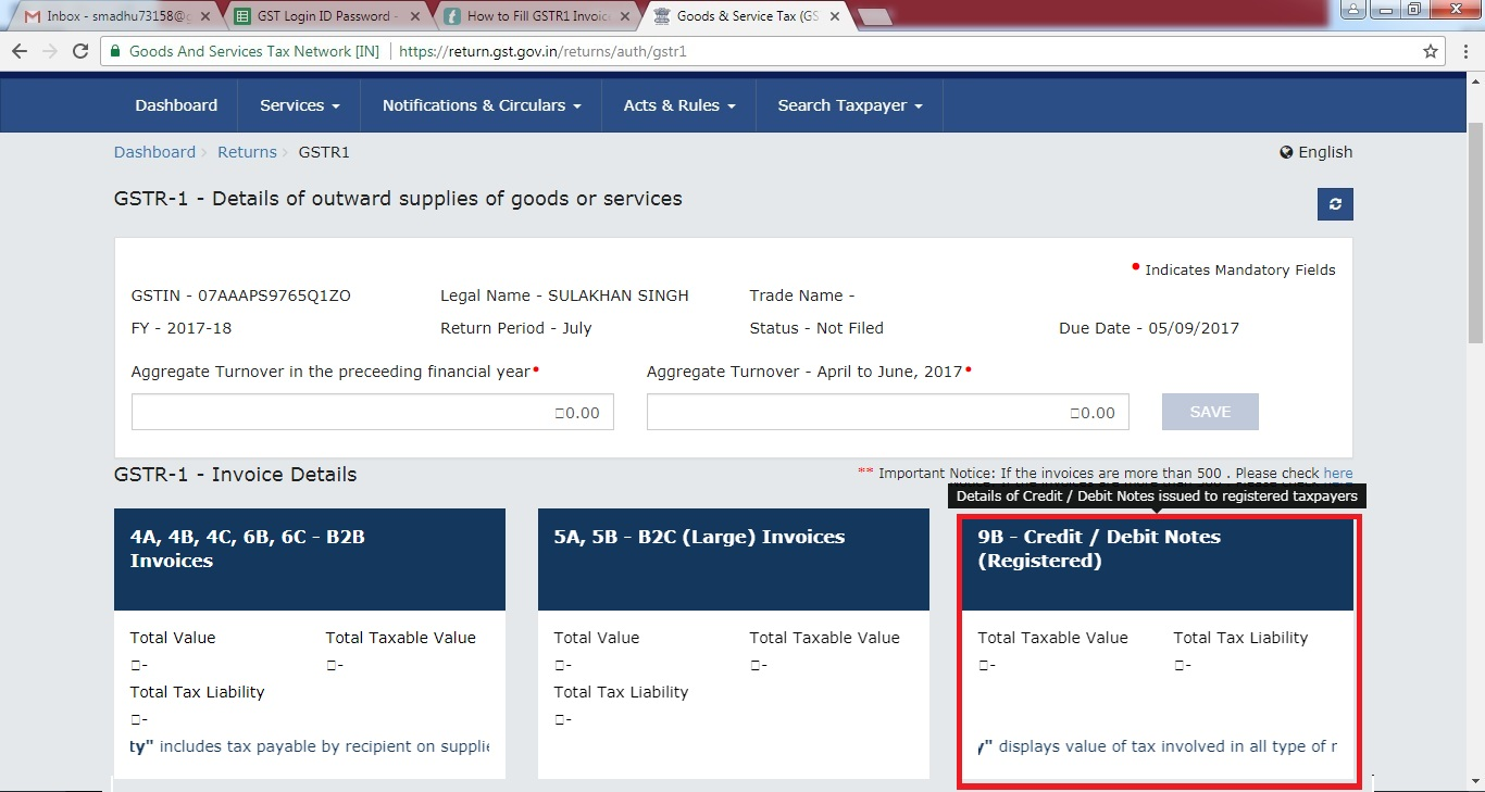 7. Fill GSTR1 Invoice Details - 9B - Credit  Debit Notes (Registered).jpg