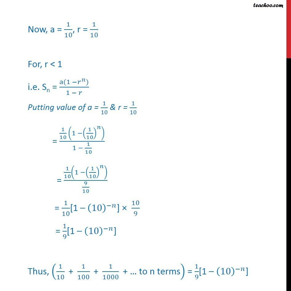 Misc 21 - Chapter 9 Class 11 Sequences and Series - Part 7