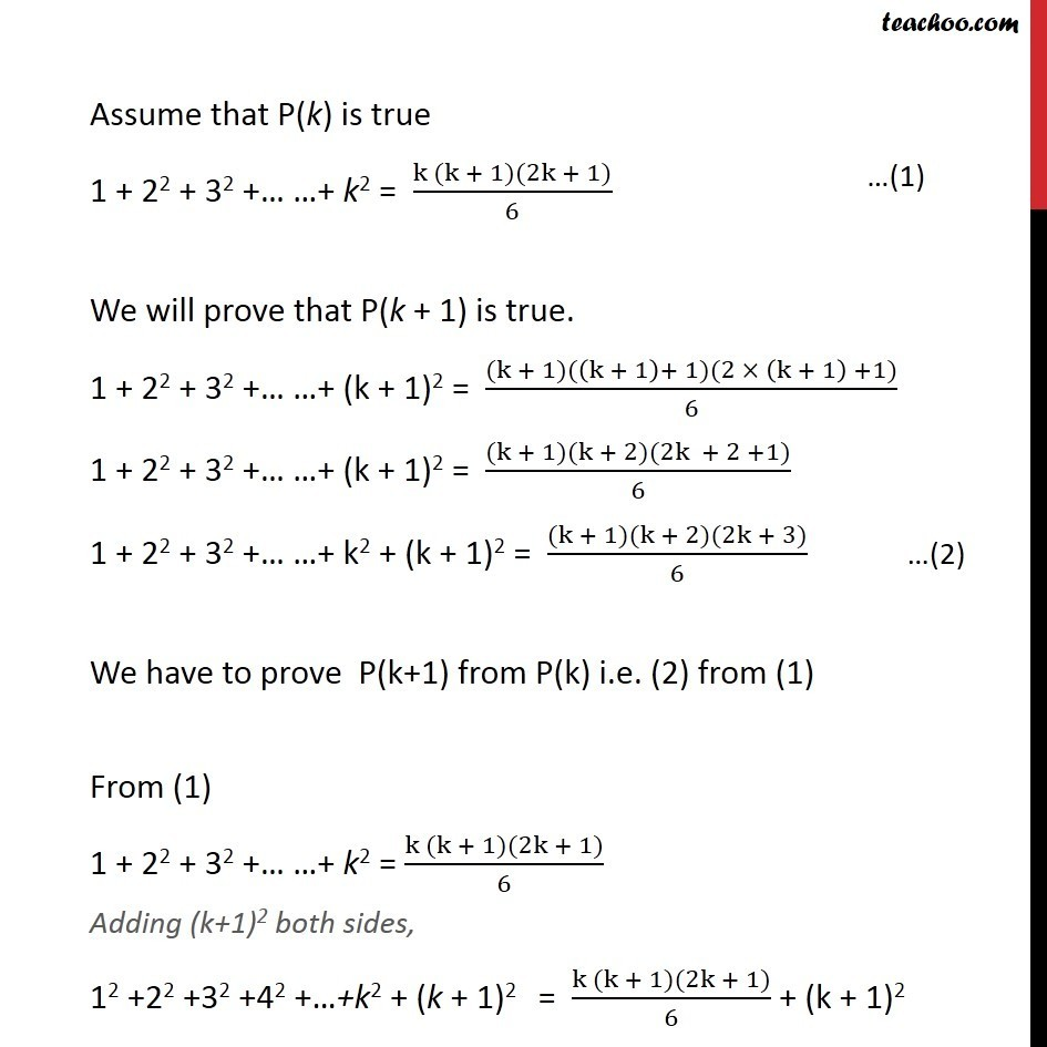 Example 1 - Chapter 4 Class 11 Mathematical Induction - Part 2