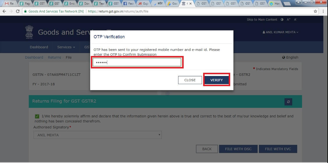 13. Enter OTP Verification then click verify Button.jpg