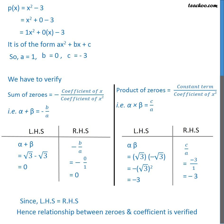 Example 3 - Chapter 2 Class 10 Polynomials - Part 2