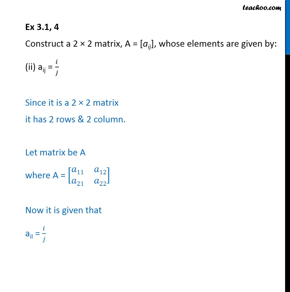 Ex 3.1, 4 - Chapter 3 Class 12 Matrices - Part 3