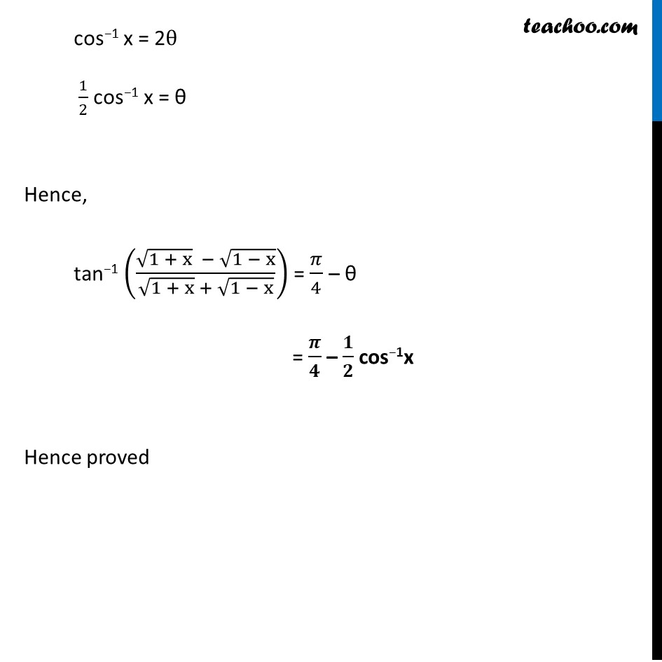 Misc. 11 - Chapter 2 Class 12 Inverse Trigonometric Functions - Part 4