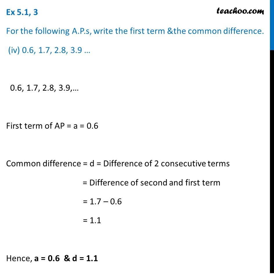 Ex 5.1, 3 - Chapter 5 Class 10 Arithmetic Progressions - Part 5