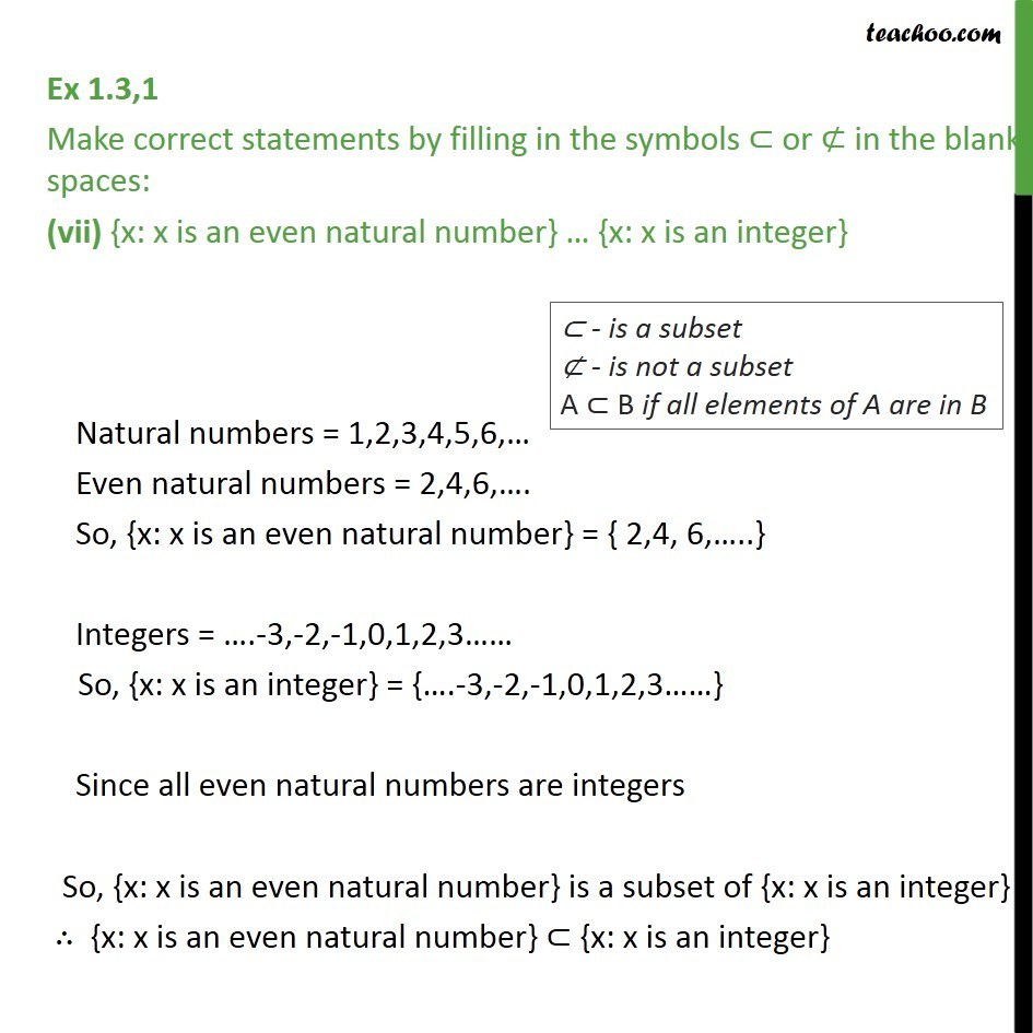 Ex 13 1 Make Correct Statements By Filling In Symbols