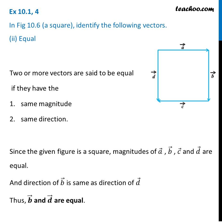Ex 10.1, 4 - Chapter 10 Class 12 Vector Algebra - Part 2