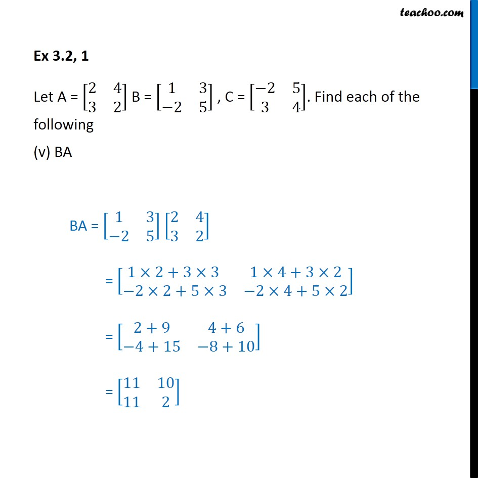 Ex 3.2, 1 - Chapter 3 Class 12 Matrices - Part 5