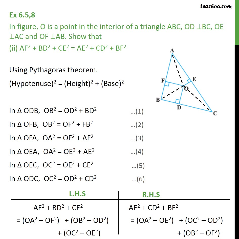 Ex 6.5, 8 - Chapter 6 Class 10 Triangles - Part 3