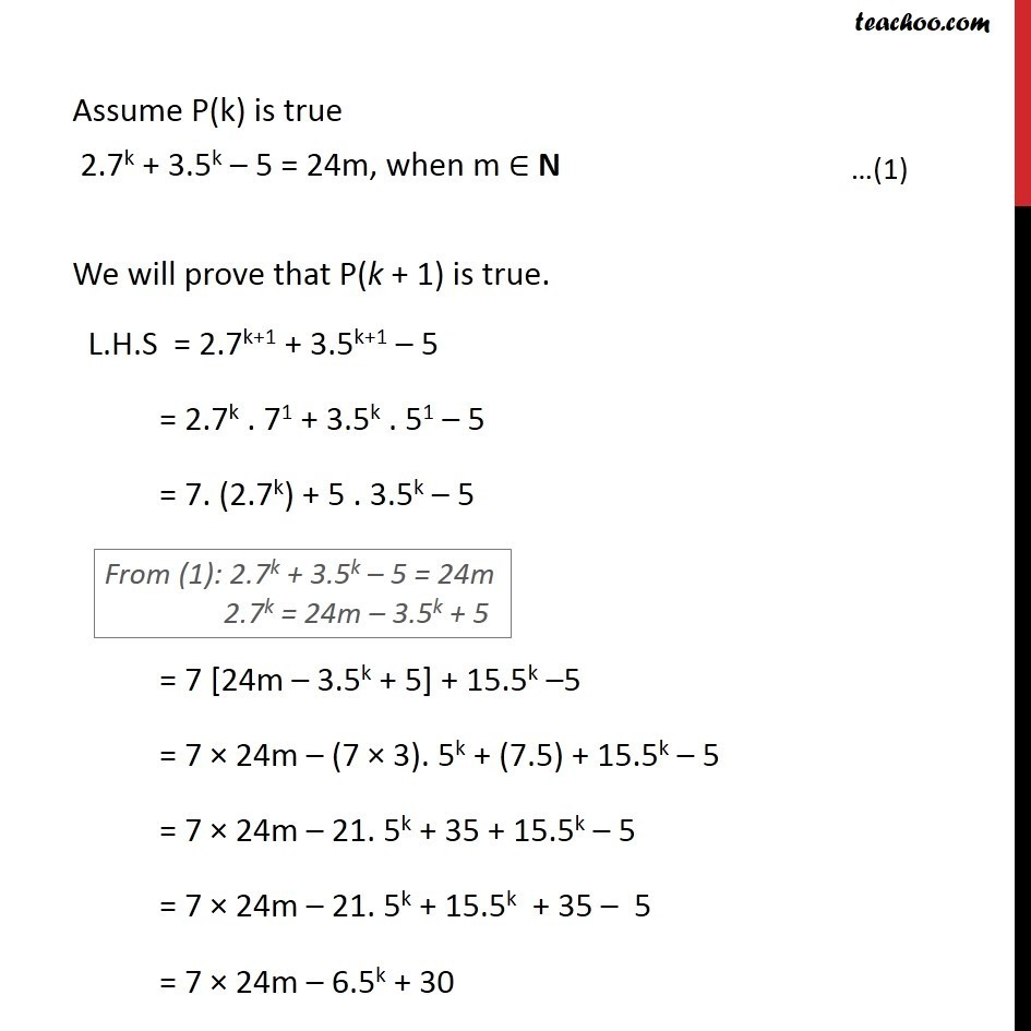 Example 6 - Chapter 4 Class 11 Mathematical Induction - Part 3