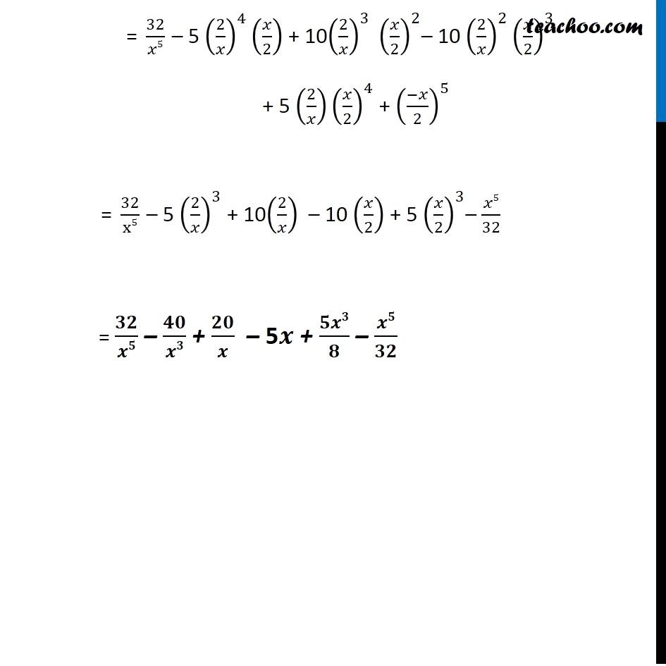 Ex 8.1,2 - Chapter 8 Class 11 Binomial Theorem - Part 3
