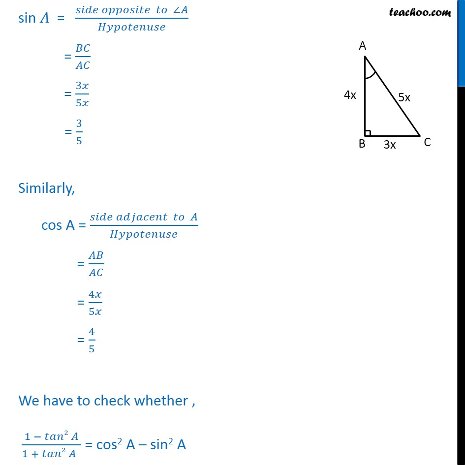 Ex 8.1, 8 - Chapter 8 Class 10 Introduction to Trignometry - Part 3