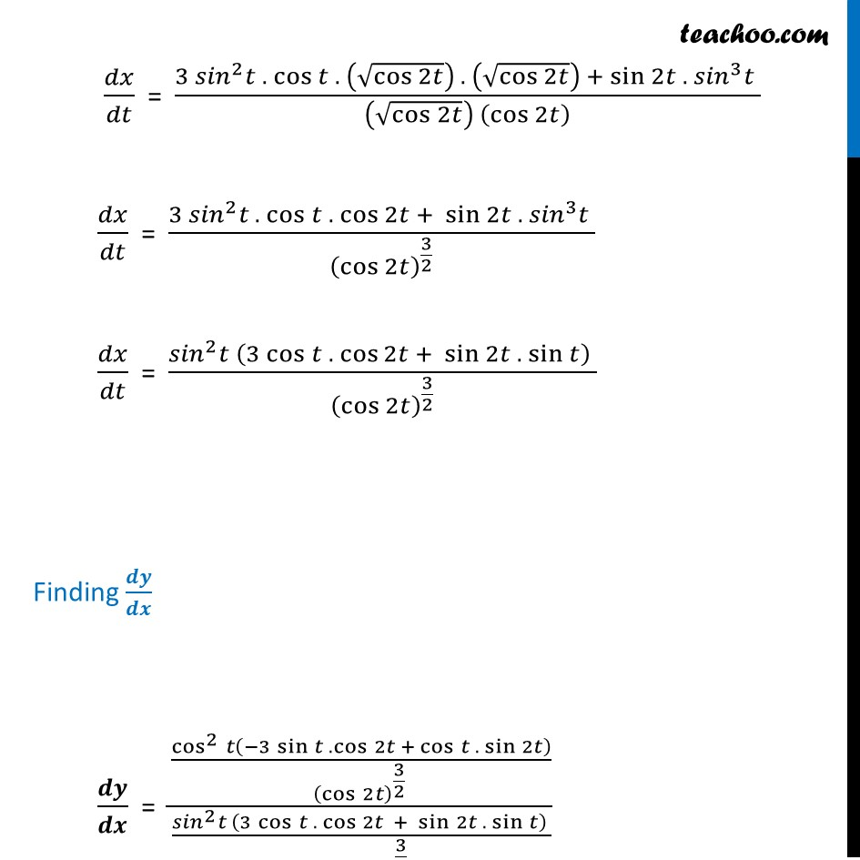 Ex 5.6, 7 - Chapter 5 Class 12 Continuity and Differentiability - Part 5