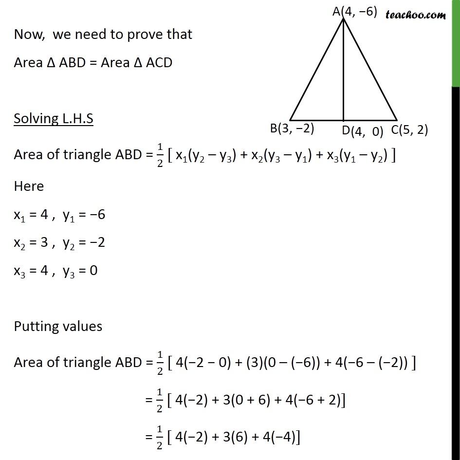 Ex 7.3, 5 - Chapter 7 Class 10 Coordinate Geometry - Part 2