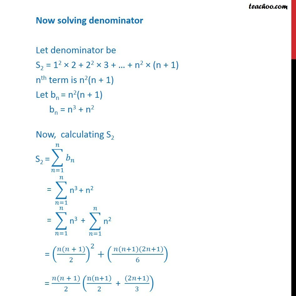 Misc 26 - Chapter 9 Class 11 Sequences and Series - Part 4