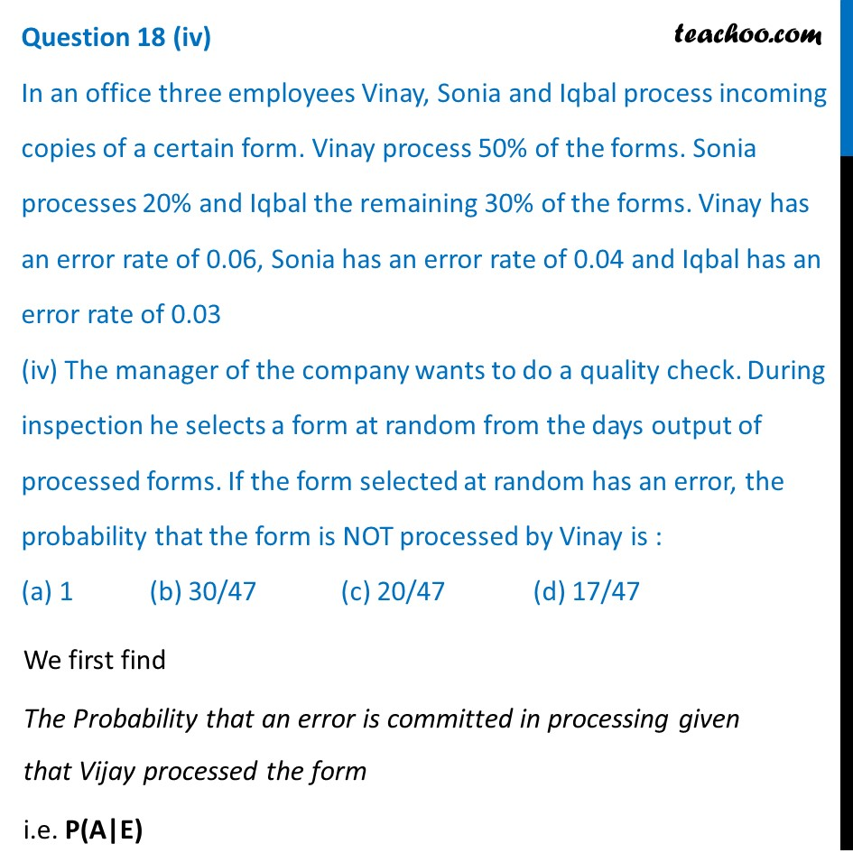 Question 18 - CBSE Class 12 Sample Paper for 2021 Boards - Part 7