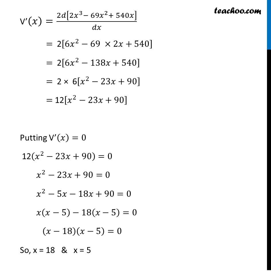 Ex 6.5,18 - Chapter 6 Class 12 Application of Derivatives - Part 3