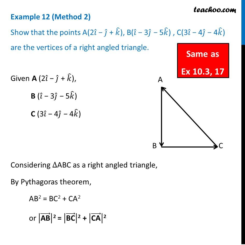 Example 12 - Chapter 10 Class 12 Vector Algebra - Part 4