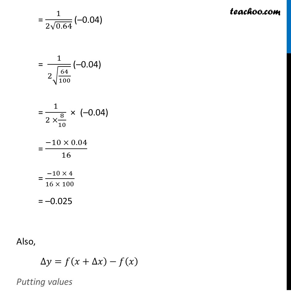Ex 6.4, 1 (iii) - Chapter 6 Class 12 Application of Derivatives - Part 2