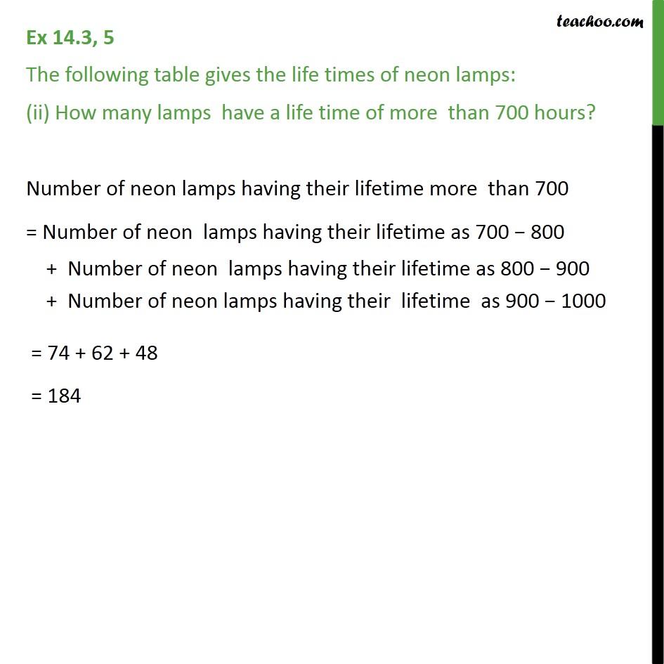 Ex 14.3, 5 - Chapter 14 Class 9 Statistics - Part 3