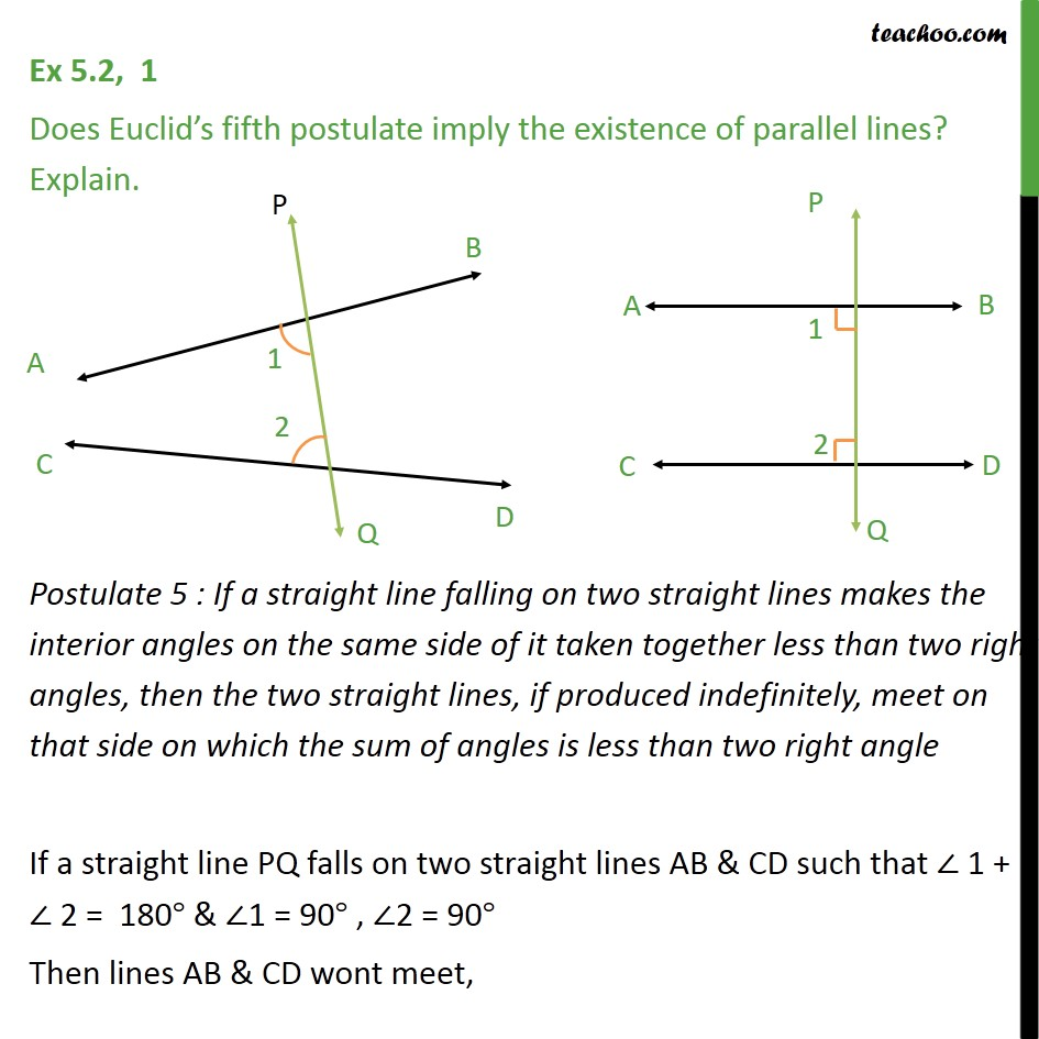Ex 5.2, 1 - Chapter 5 Class 9 Introduction to Euclid's Geometry - Part 4