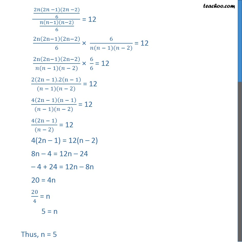 Ex 7.4, 2 - Chapter 7 Class 11 Permutations and Combinations - Part 2