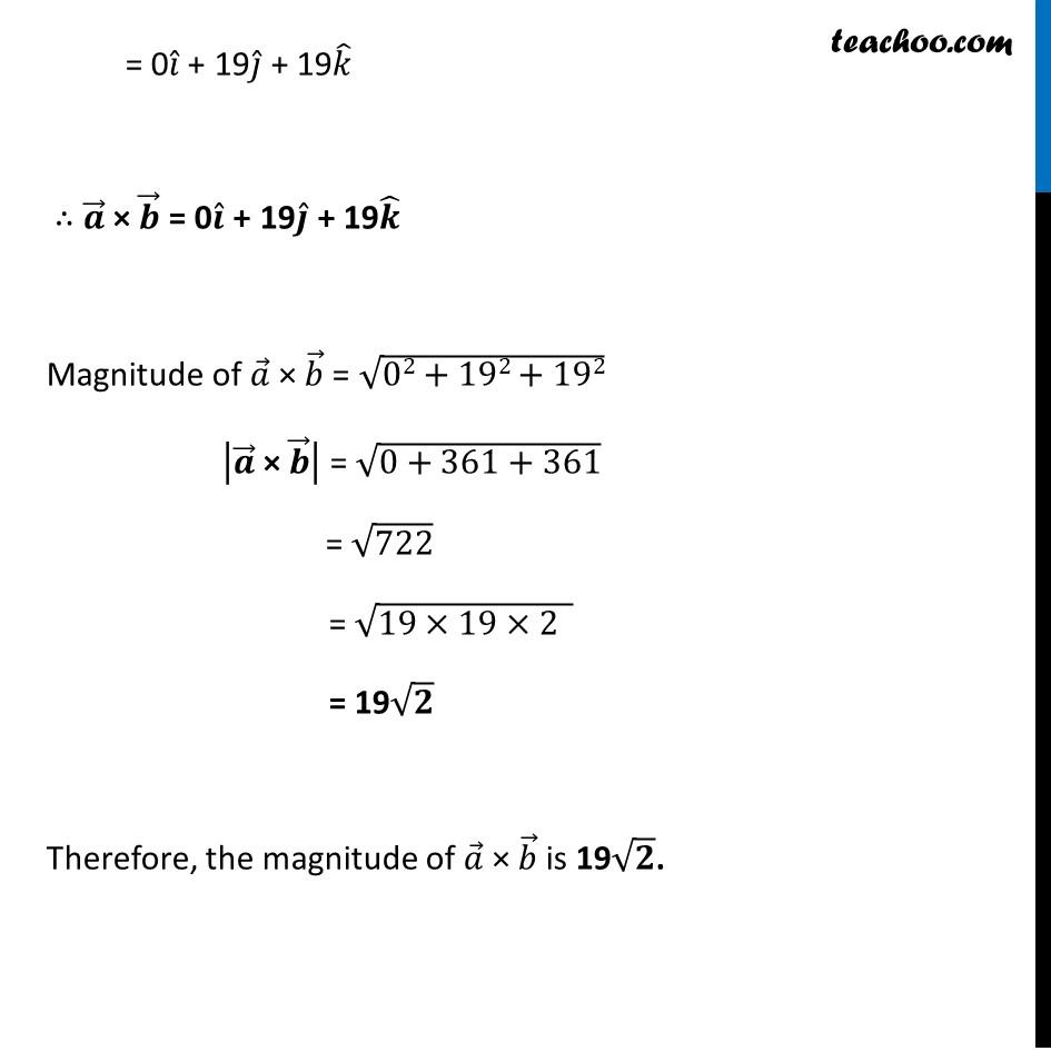 Ex 10.4, 1 - Chapter 10 Class 12 Vector Algebra - Part 2