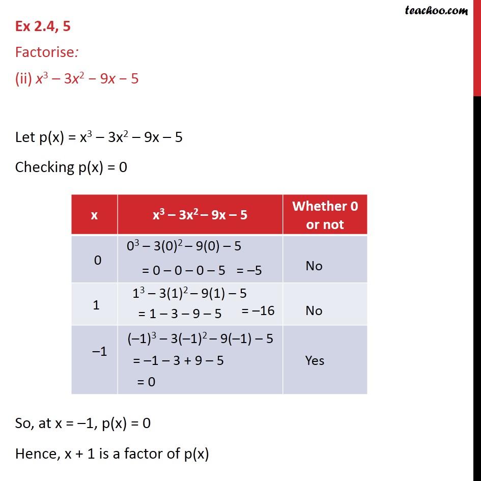 Ex 2.4, 5 - Chapter 2 Class 9 Polynomials - Part 4