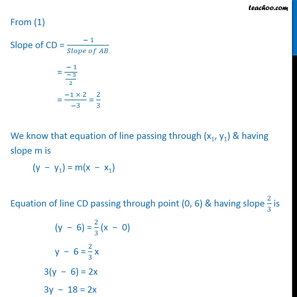 Misc 7 - Chapter 10 Class 11 Straight Lines - Part 4