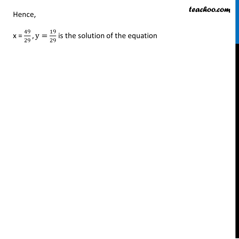 Example 7 - Chapter 3 Class 10 Pair of Linear Equations in Two Variables - Part 4