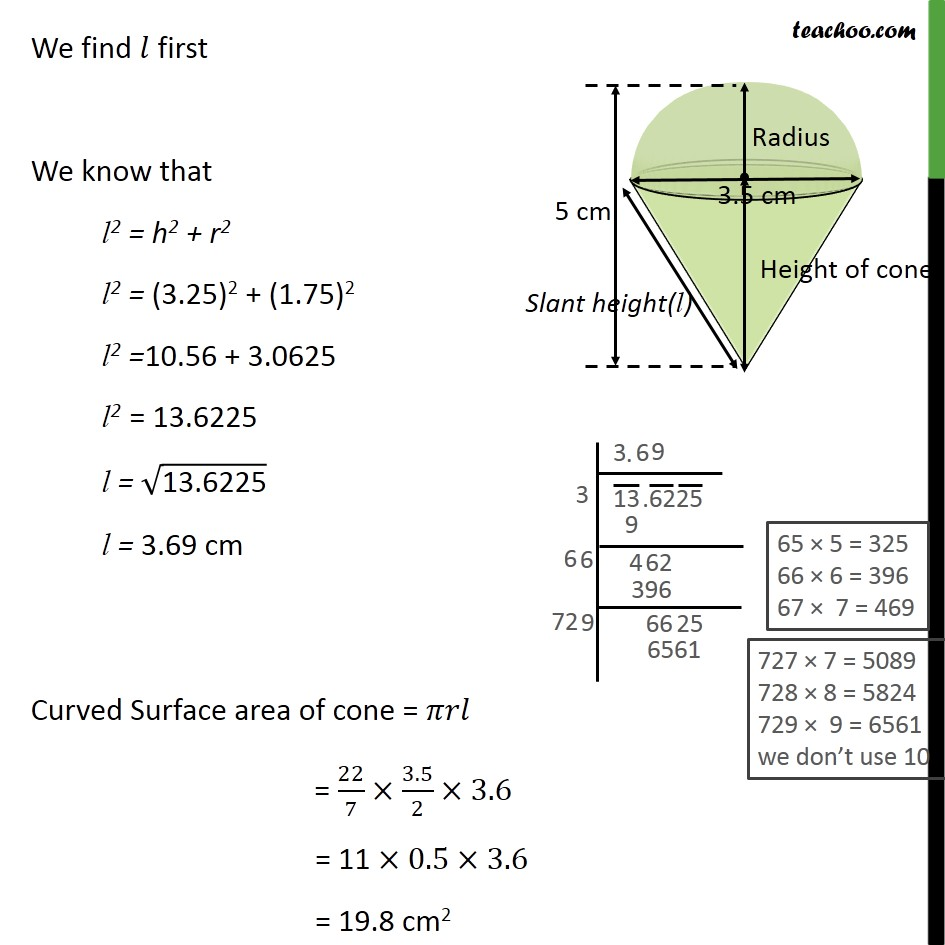Example 1 - Chapter 13 Class 10 Surface Areas and Volumes - Part 3