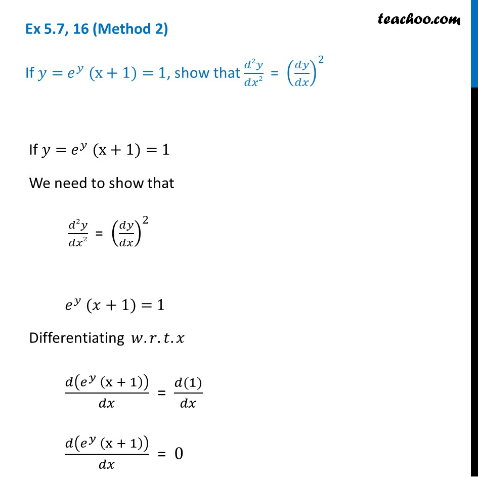 Ex 5.7, 16 - Chapter 5 Class 12 Continuity and Differentiability - Part 6