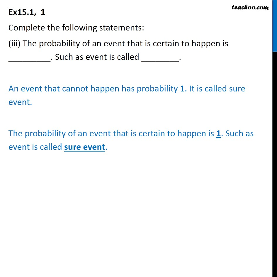 Ex 15.1, 1 - Chapter 15 Class 10 Probability - Part 3
