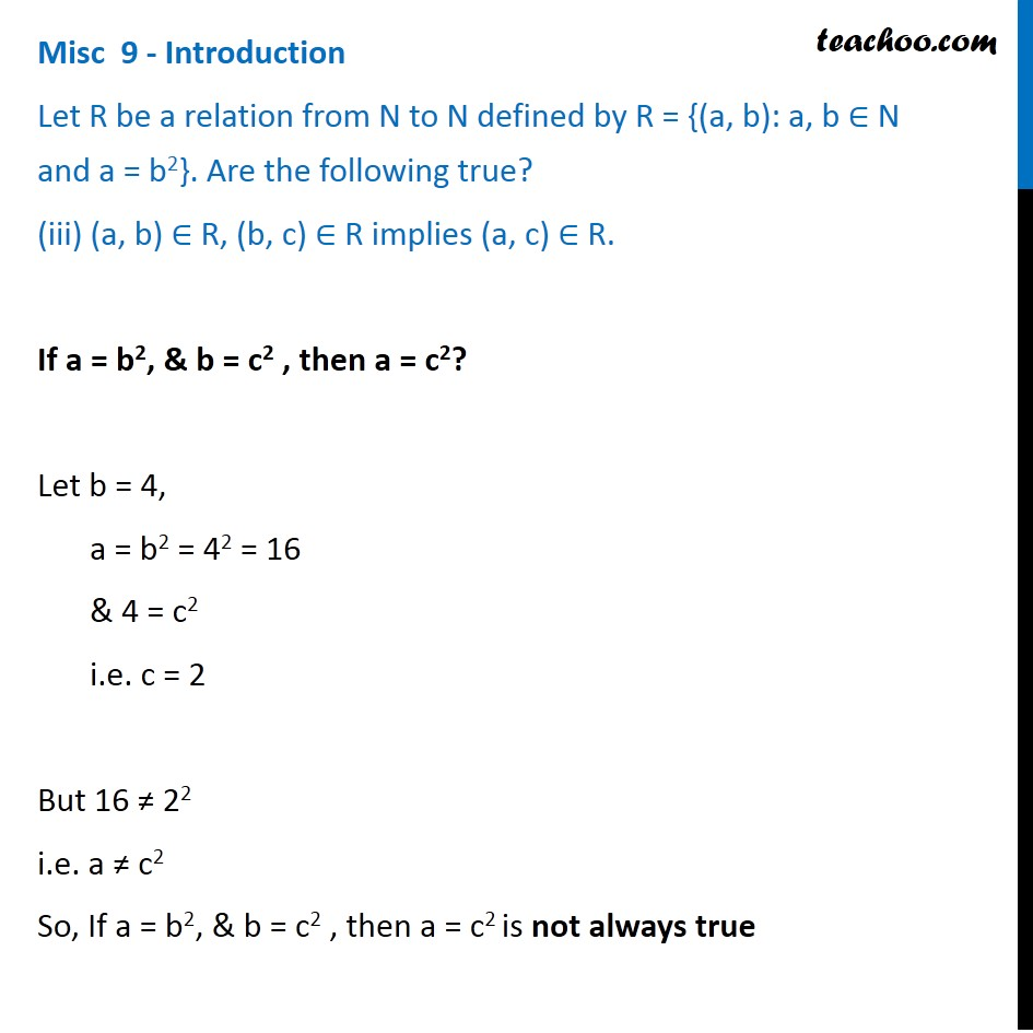 Misc 9 - Chapter 2 Class 11 Relations and Functions - Part 7