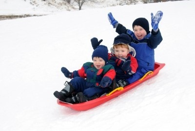 Children Skiing in Snow - Example of Sliding Friction.jpg